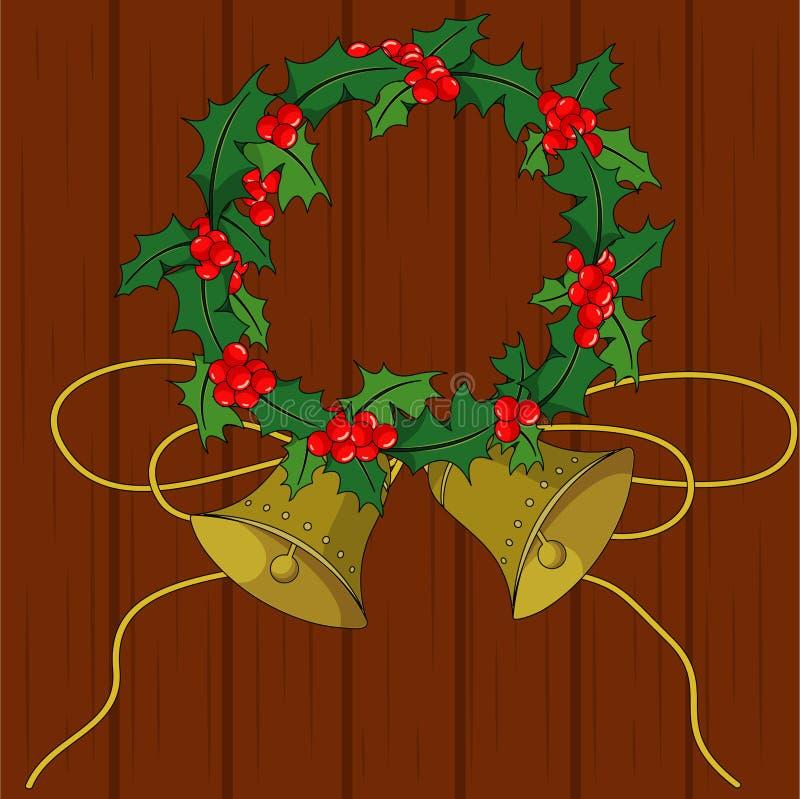 Download Acebo de la Navidad stock de ilustración. Ilustración de marrón - 1285872
