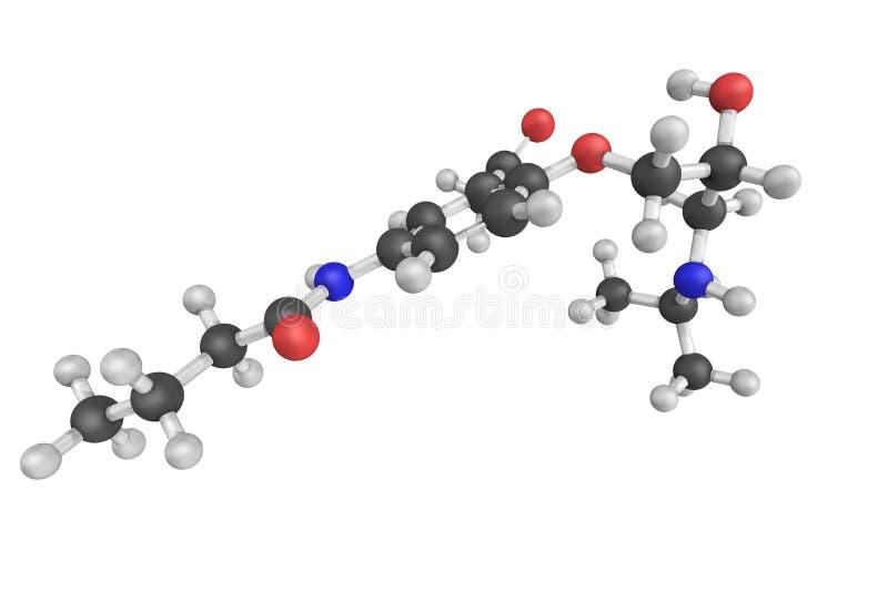 Acebutolol, voor de behandeling van hypertensie en arrhythmi wordt gebruikt die royalty-vrije illustratie