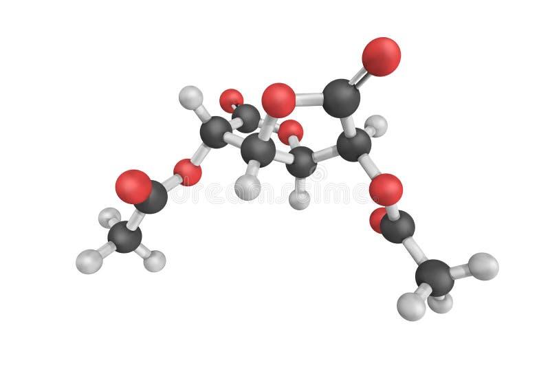 Aceglatone, een antineoplastic drug beschikbaar in Japan Het is stock foto's