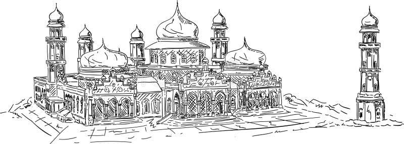 aceh banda meczet ilustracji