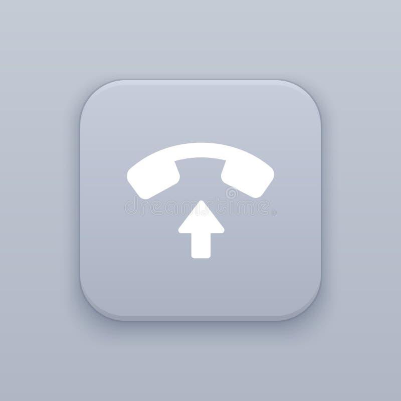 Aceite a chamada, botão cinzento do vetor com ícone branco ilustração do vetor