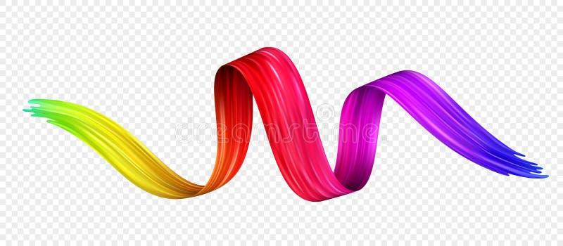 Aceite de la pincelada del color o elemento del diseño de la pintura acrílica Ilustración del vector libre illustration