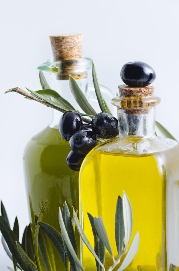 Aceite de oliva de la Virgen imágenes de archivo libres de regalías