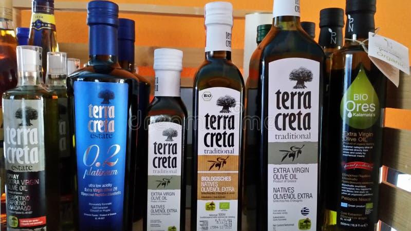 Aceite de oliva griego fotografía de archivo