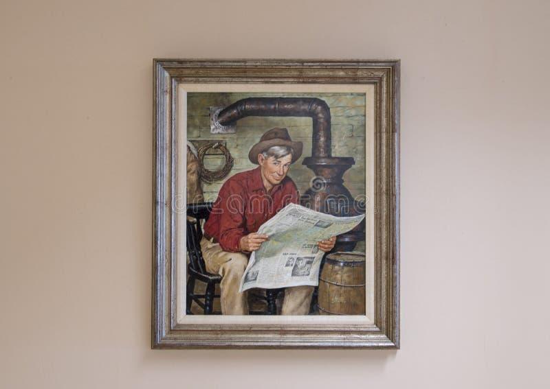 Aceite de Rogers en la pintura de la lona, Claremore, Oklahoma foto de archivo libre de regalías