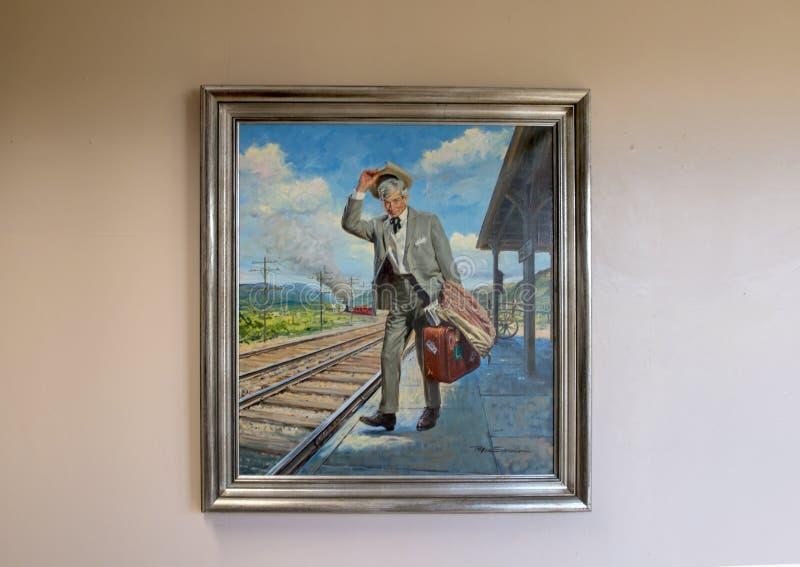 Aceite de Rogers en la pintura de la lona, Claremore, Oklahoma fotografía de archivo libre de regalías