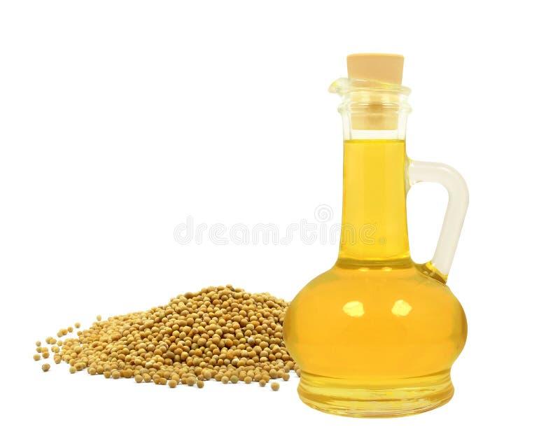 Aceite de semilla de mostaza imagen de archivo