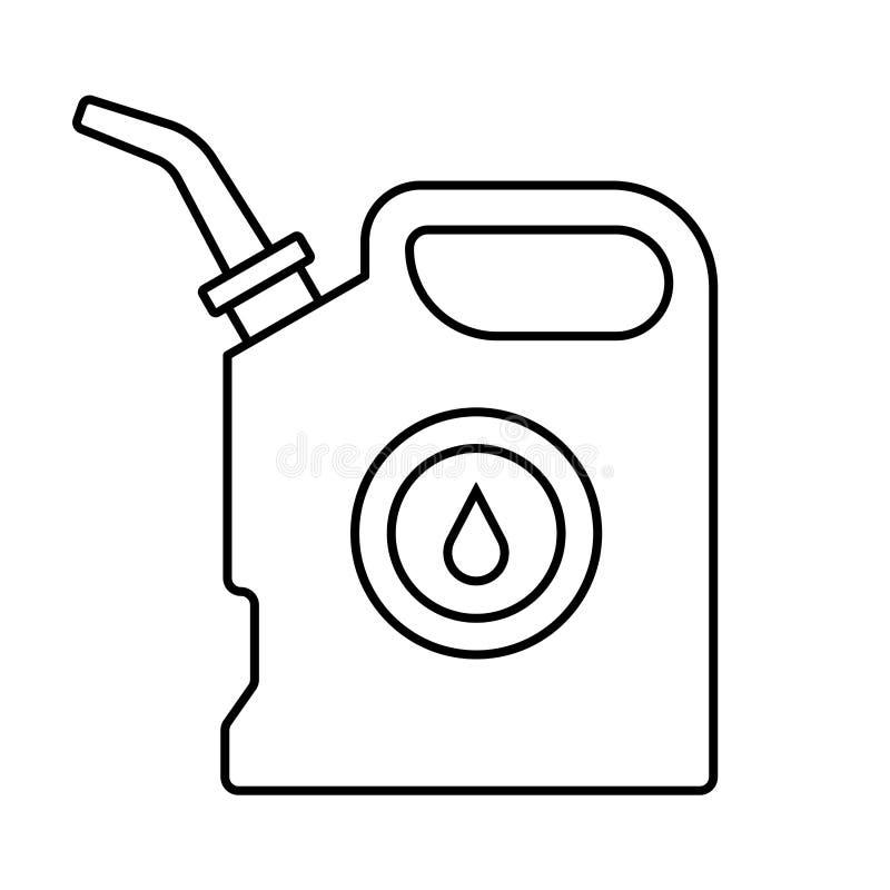 Aceite del bote ilustración del vector