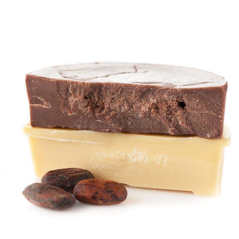 Aceite del cacao foto de archivo libre de regalías