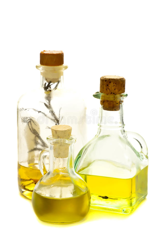 Aceite herbario y de oliva fotografía de archivo
