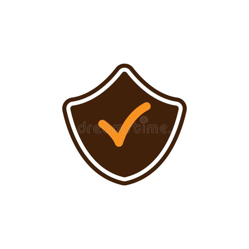 Aceite, marque o ícone Elemento do ícone da otimização da Web para apps móveis do conceito e da Web Detalhado aceite, marque o íc ilustração do vetor