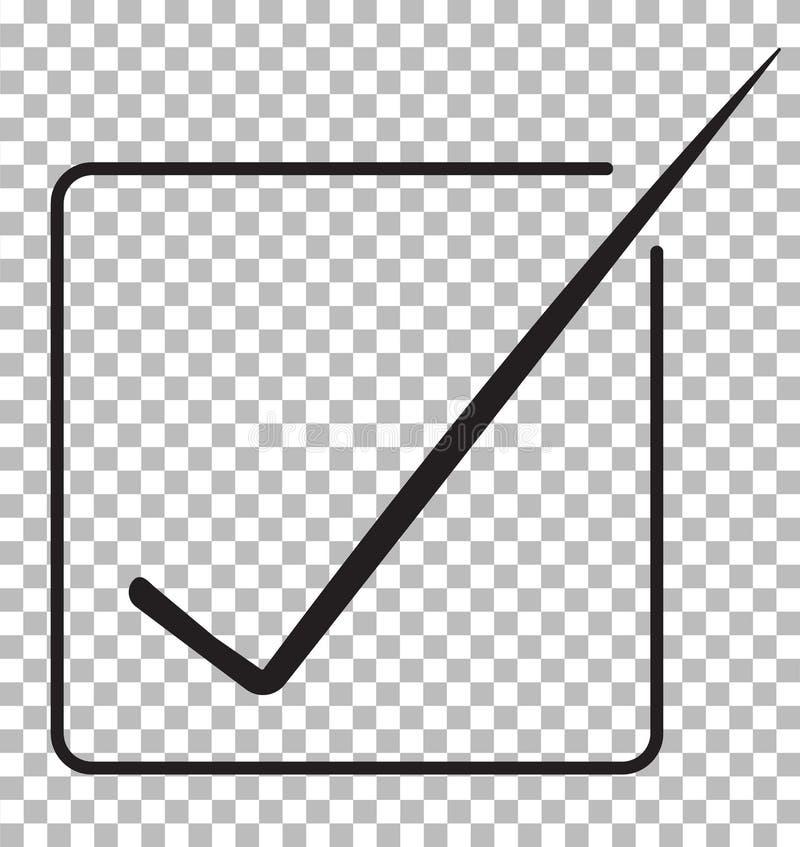 Aceite o ícone isolado no fundo transparente aceite o símbolo ilustração royalty free