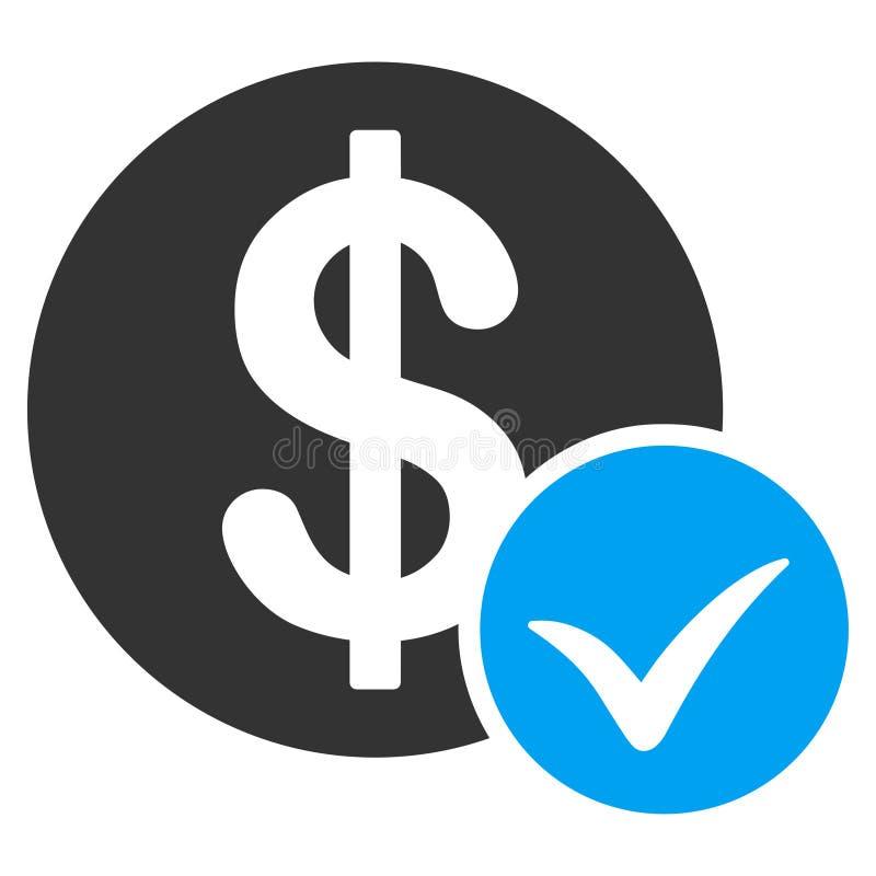 Aceite o ícone liso do pagamento ilustração do vetor