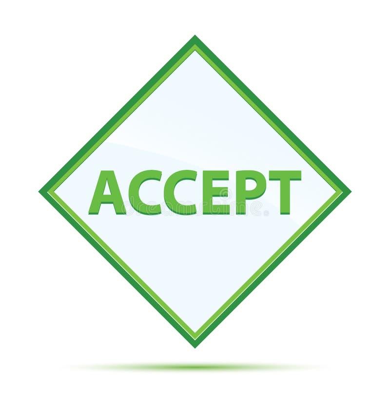 Aceite o botão verde abstrato moderno do diamante ilustração royalty free
