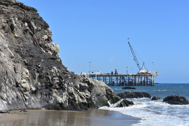 Aceite Pier Carpinteria California, 2 de Chevron imagen de archivo
