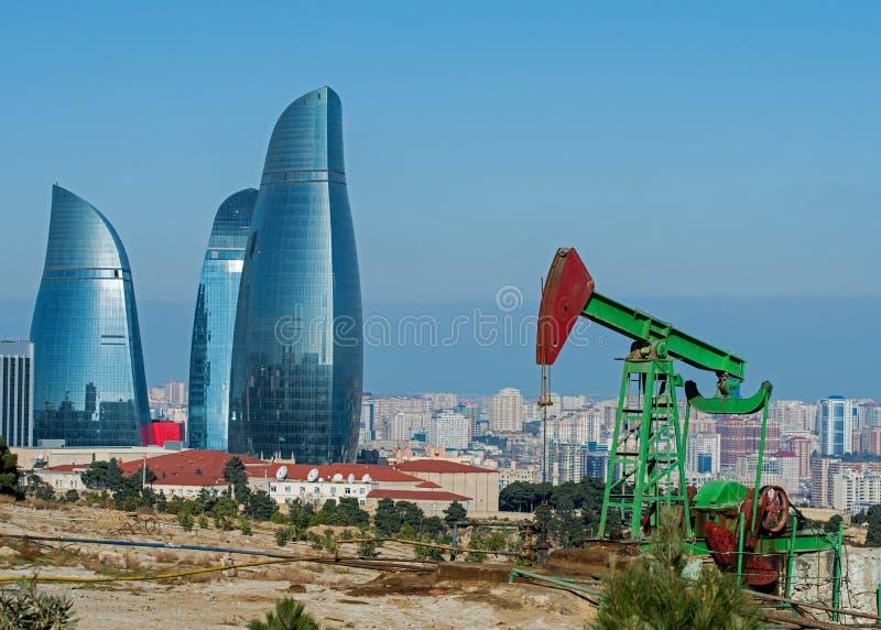 Aceite Wells de Baku foto de archivo libre de regalías