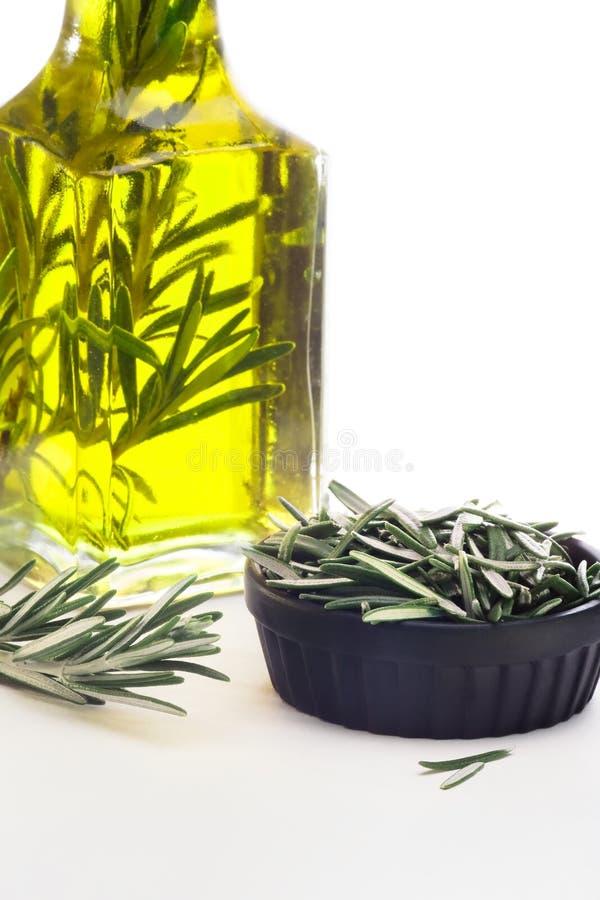Aceite y Rosemary de oliva fotos de archivo libres de regalías