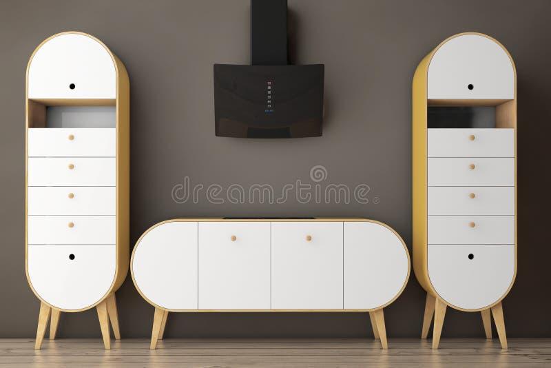 Aceituna moderna simple - cocina verde representación 3d libre illustration