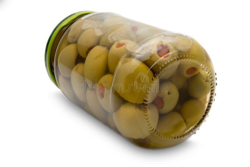 Aceitunas conservadas en vinagre fotos de archivo