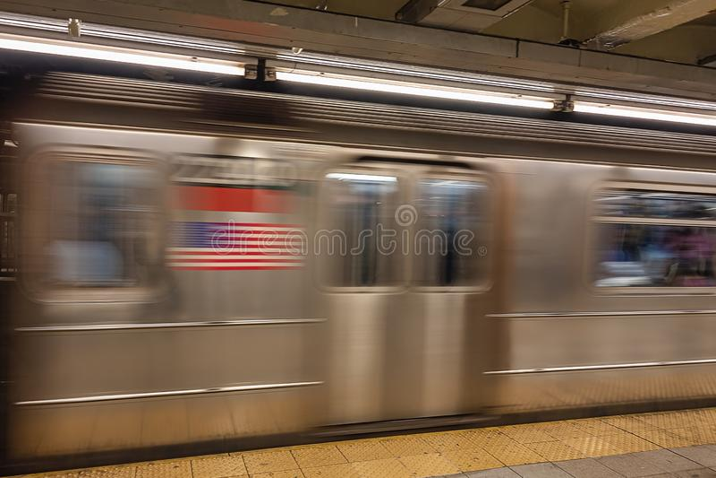 Aceleração do transporte subway por foto de stock royalty free