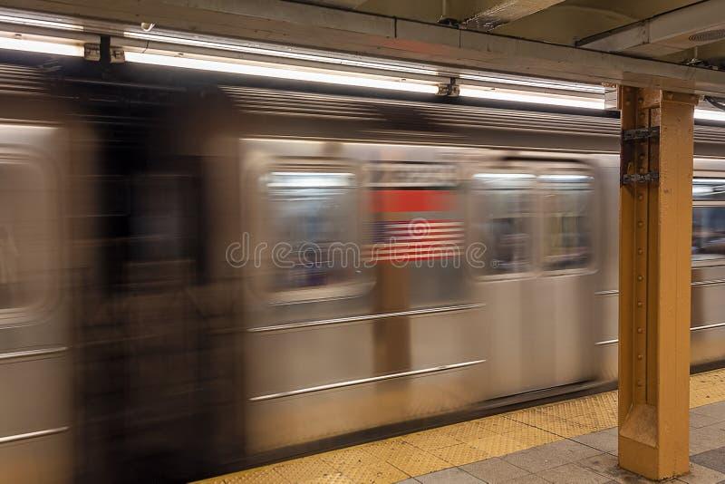 Aceleração do transporte subway por fotografia de stock royalty free