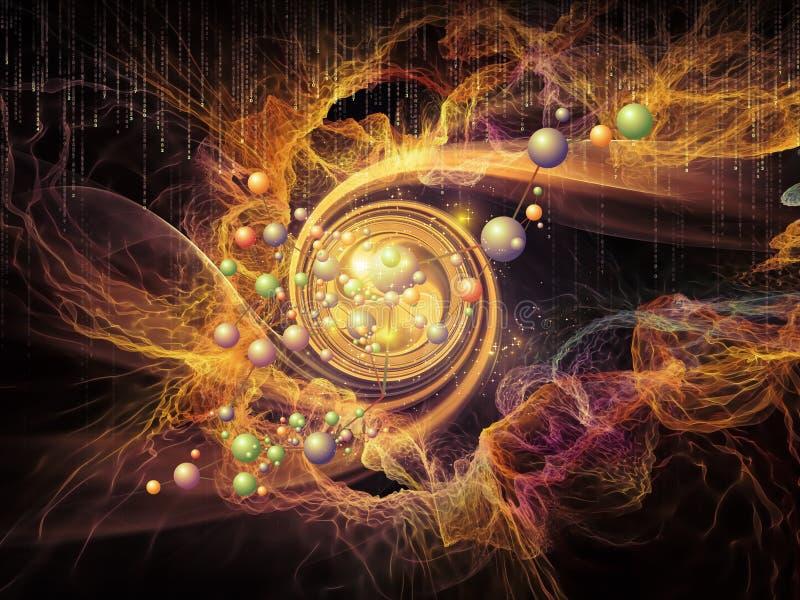 Aceleración de partículas ilustración del vector