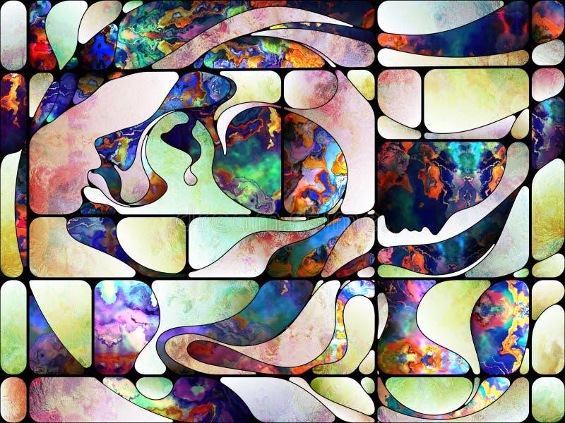 Aceleración del vidrio coloreado libre illustration