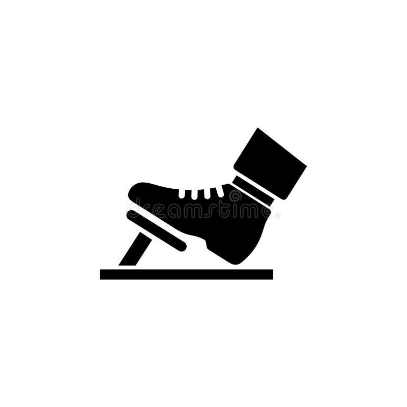 Acelerador, pedal de freno, icono libre illustration