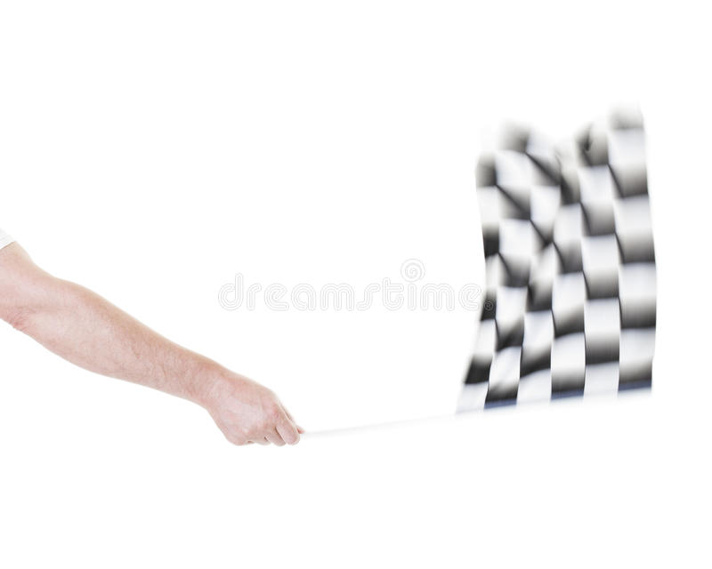 Acenando a bandeira Checkered imagens de stock