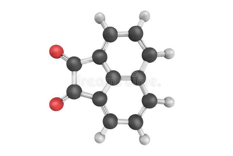 Acenaphthoquinone, używać jako średni dla produkci zdjęcia stock