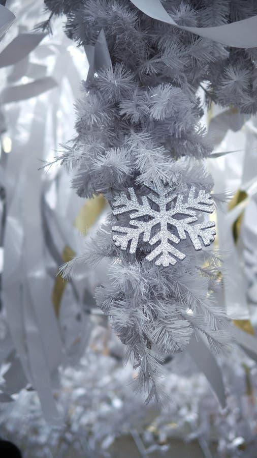 Acendendo o White Christmas do floco de neve fotos de stock