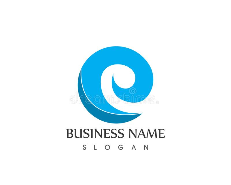 Acene o vetor do logotipo do ícone do negócio do molde do vetor do logotipo ilustração do vetor