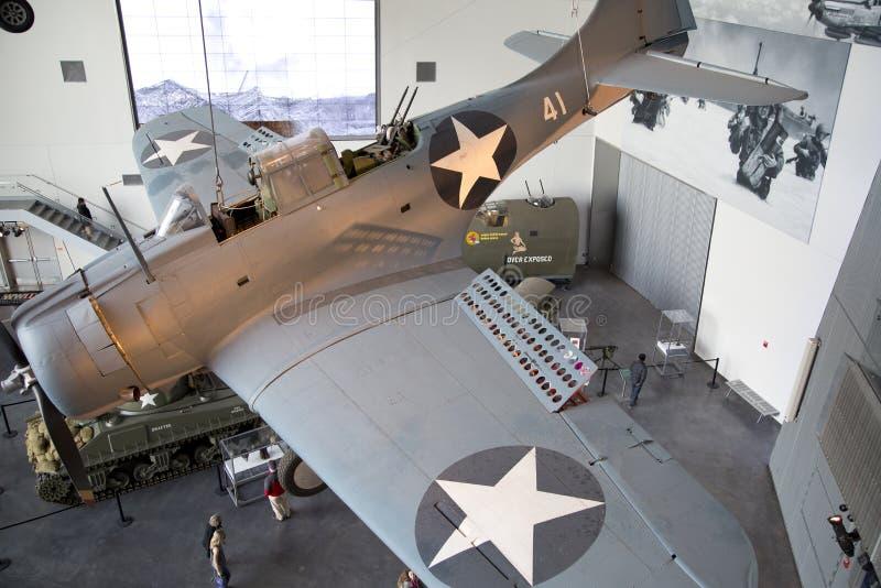 Acepille en el museo nacional de WWII para la demostración New Orleans los E.E.U.U. fotografía de archivo libre de regalías