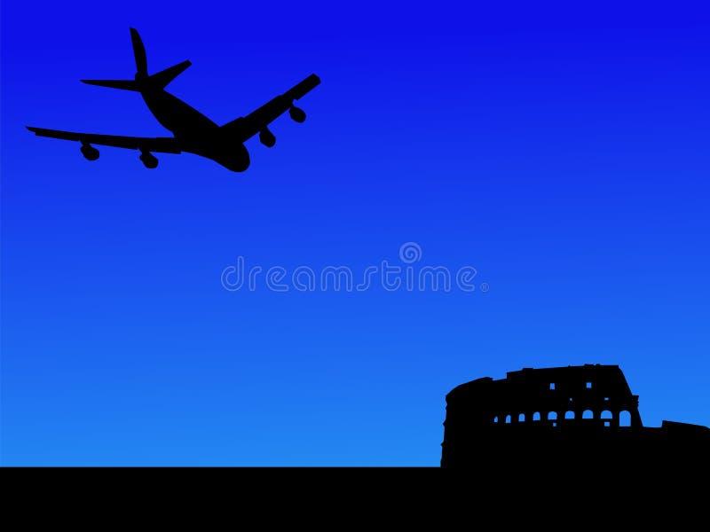 Acepille la llegada en Roma stock de ilustración