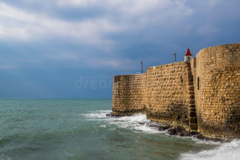 Acer, Akko sea ruins and port stock photos