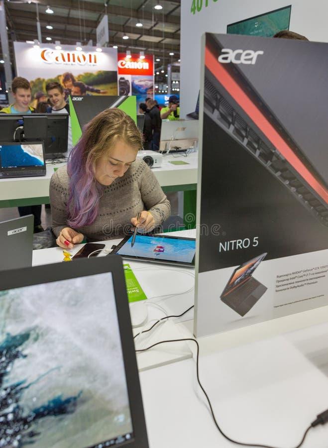 Acer budka przy CEE 2017 w Kijów, Ukraina obrazy royalty free