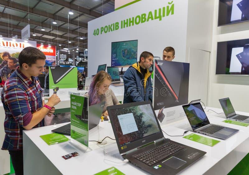 Acer budka przy CEE 2017 w Kijów, Ukraina fotografia stock