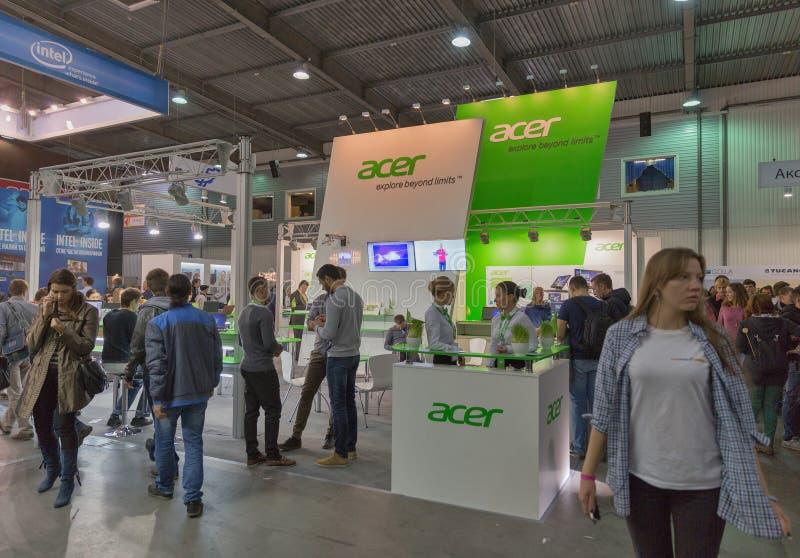 Acer firmy budka przy CEE 2015 wielka elektroniki wystawa handlowa w Ukraina obrazy royalty free