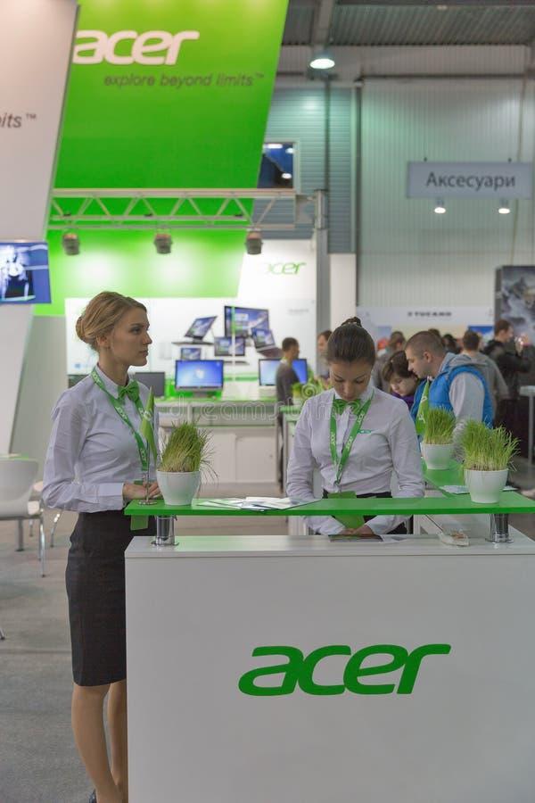 Acer firmy budka przy CEE 2015 wielka elektroniki wystawa handlowa w Ukraina zdjęcia royalty free