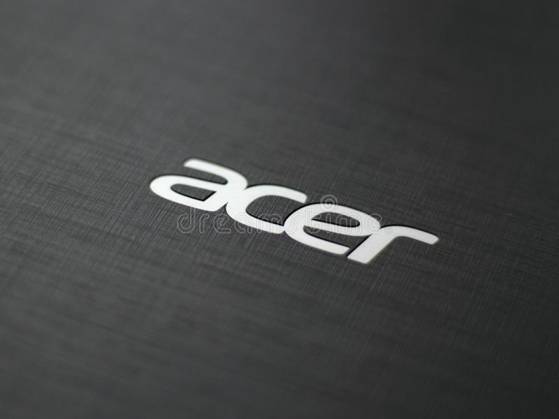 Acer-Logo lizenzfreie stockfotografie