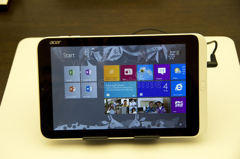 Acer-stootkussentablet royalty-vrije stock afbeelding
