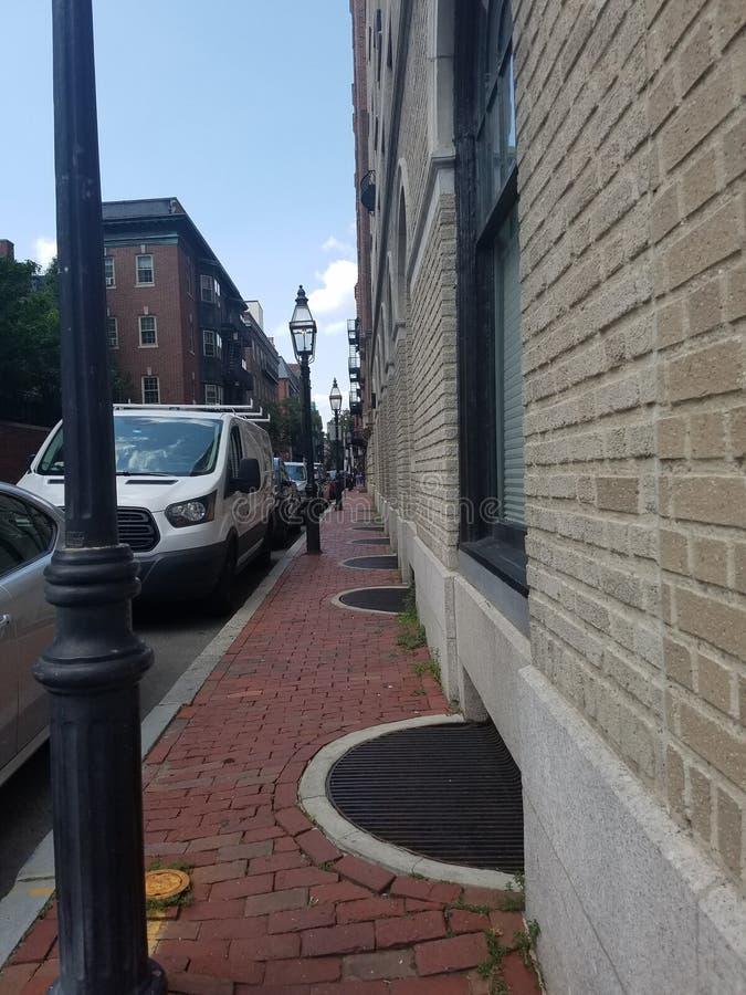 Acera de Boston imagenes de archivo