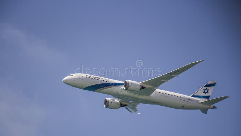 Acercamento israelita da força aérea do dia de Israel Independece imagem de stock