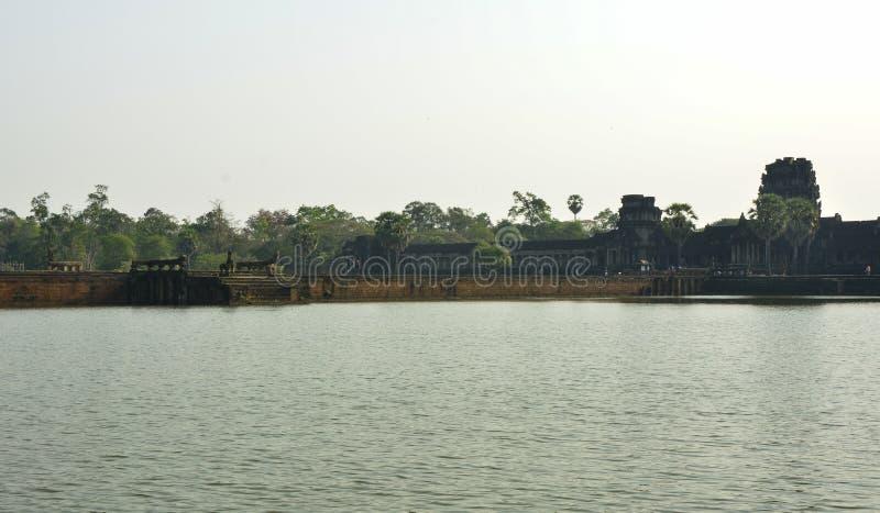 Acercamiento a Angkor Wat camboya imagen de archivo libre de regalías