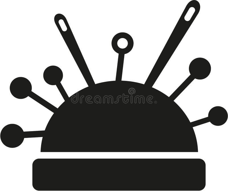 Acerico de las agujas de costura stock de ilustración