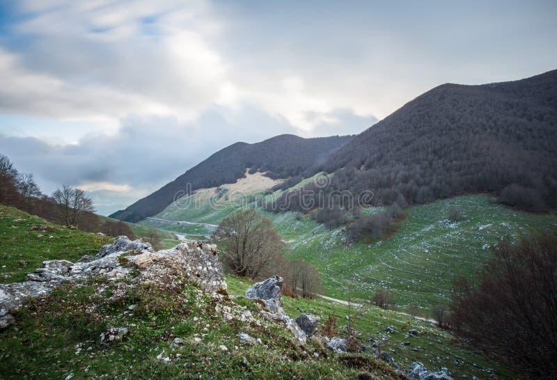 ` Acero, accès de Forca d au ` Abruzzo, Italie de Parco Nazionale d photos stock