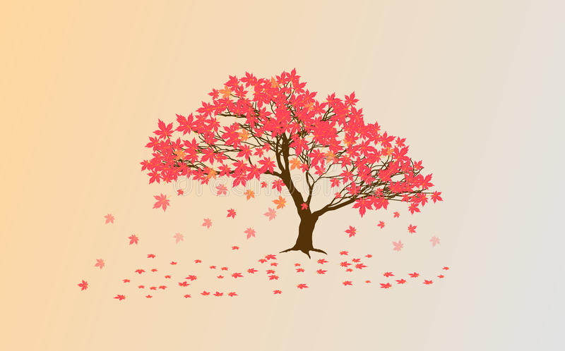Acero di Autumn Japanese illustrazione di stock