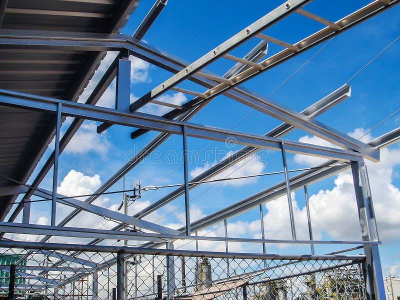 Acero estructural de la construcción fotos de archivo