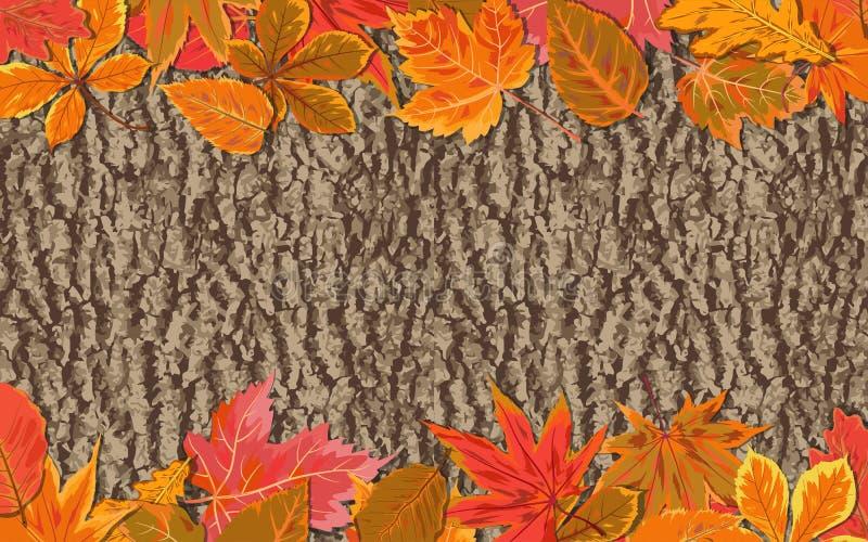 Acero stagionale di caduta di stile dell'acquerello di autunno di vettore, castagna, Al illustrazione vettoriale
