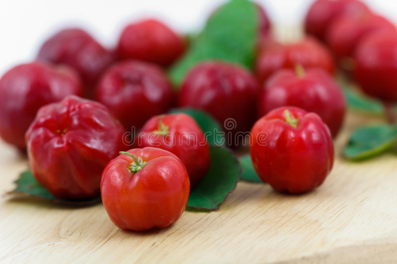 Acerola small cherry fruit with high quantity C Vi royalty free stock photography